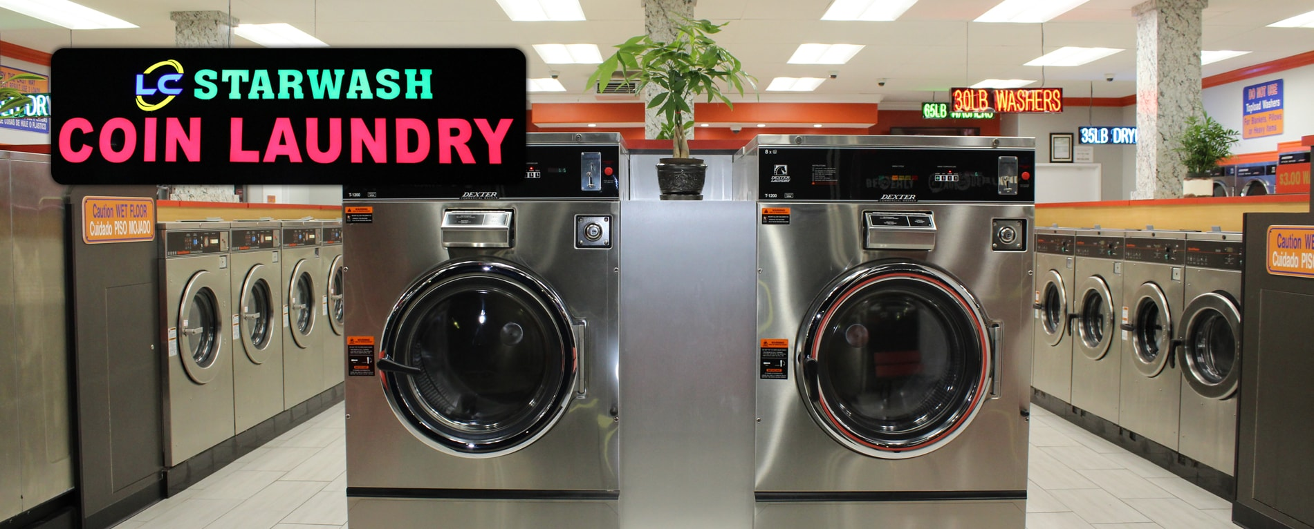 LC Starwash Coin Laundry: 10722 Beverly Blvd, Suite #R,S,T, Whittier, CA 90601