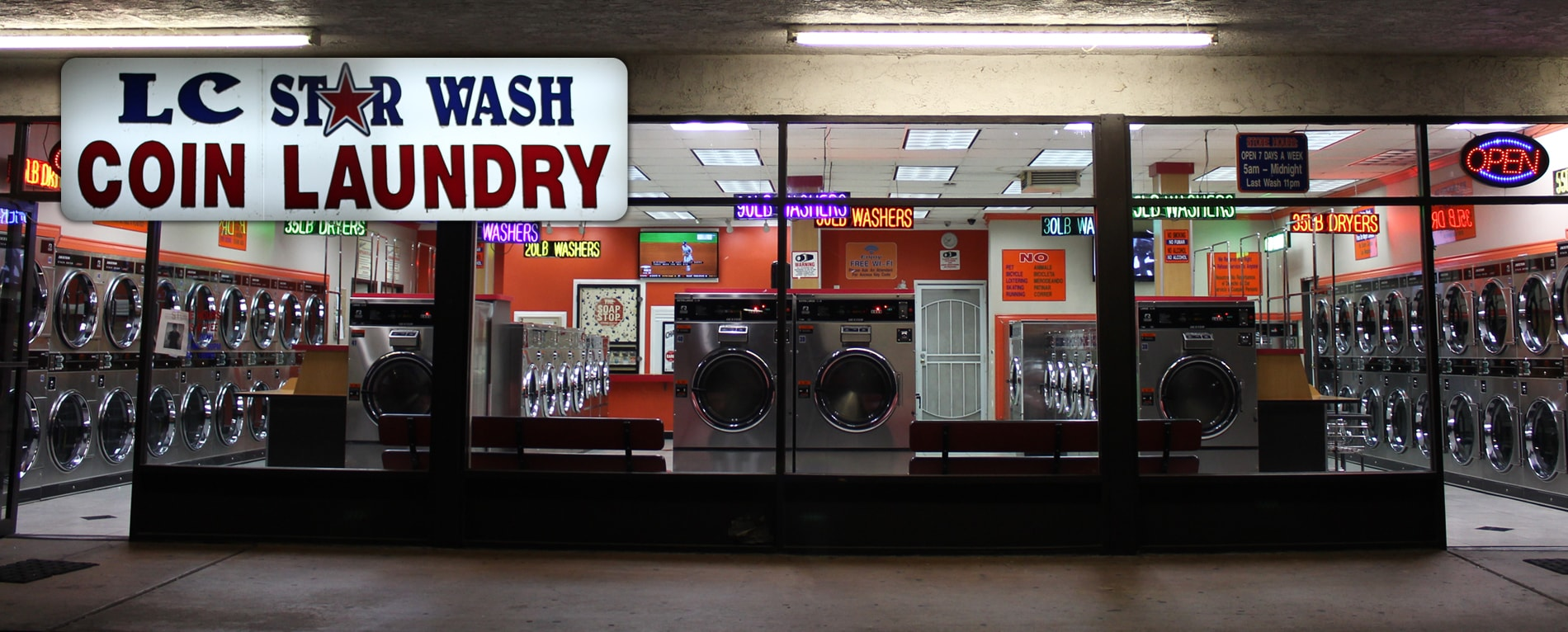 LC Star Wash Coin Laundry: 8009 Greenleaf Ave, Whittier, CA 90602